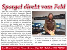 Bericht im Kölner Wochenspiegel KW 14 2019